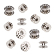 10pcs Metal Rotary Bobbins for Household Sewing Machine (Silver)