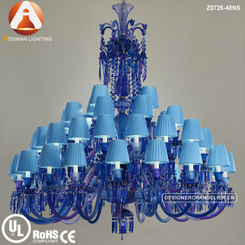 Baccarat style blue crystal chandelier buy blue crystal chandelier baccarat style blue crystal chandelier aloadofball Image collections