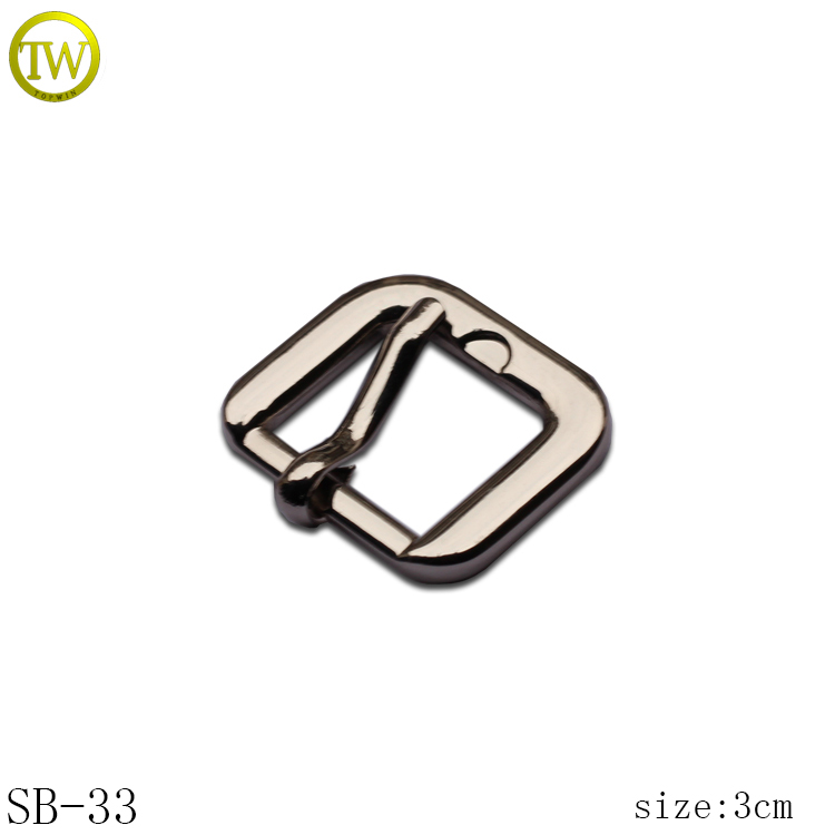 Hardware accessories silver strap buckle nickle free metal pin buckle for shoes