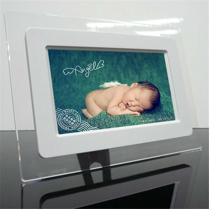 "7"" LCD Screen Digital Photo Frame with Remote Control and SD/MMC/MS/XD/CF/USB Slots"