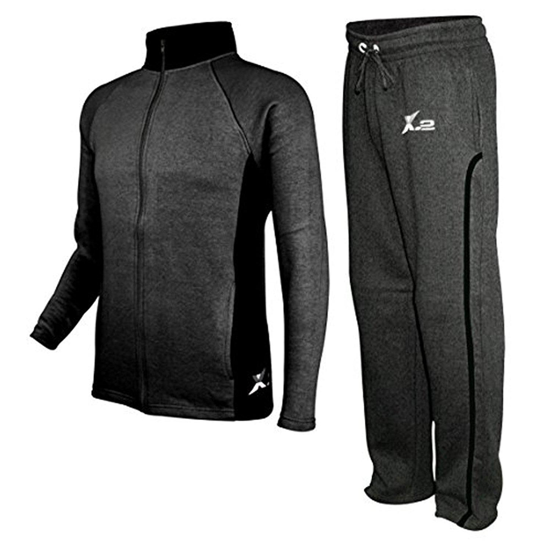XQS Mens 2 Piece Set Gym Fashion Sweatsuit Slim Jogging Activewear