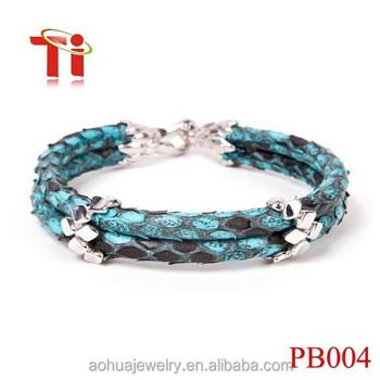 Real Python Skin Bracelet Genuine Snakeskin Cuff