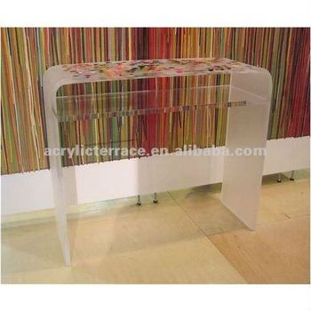 acrylic console table cb2 shelf clear ikea canada