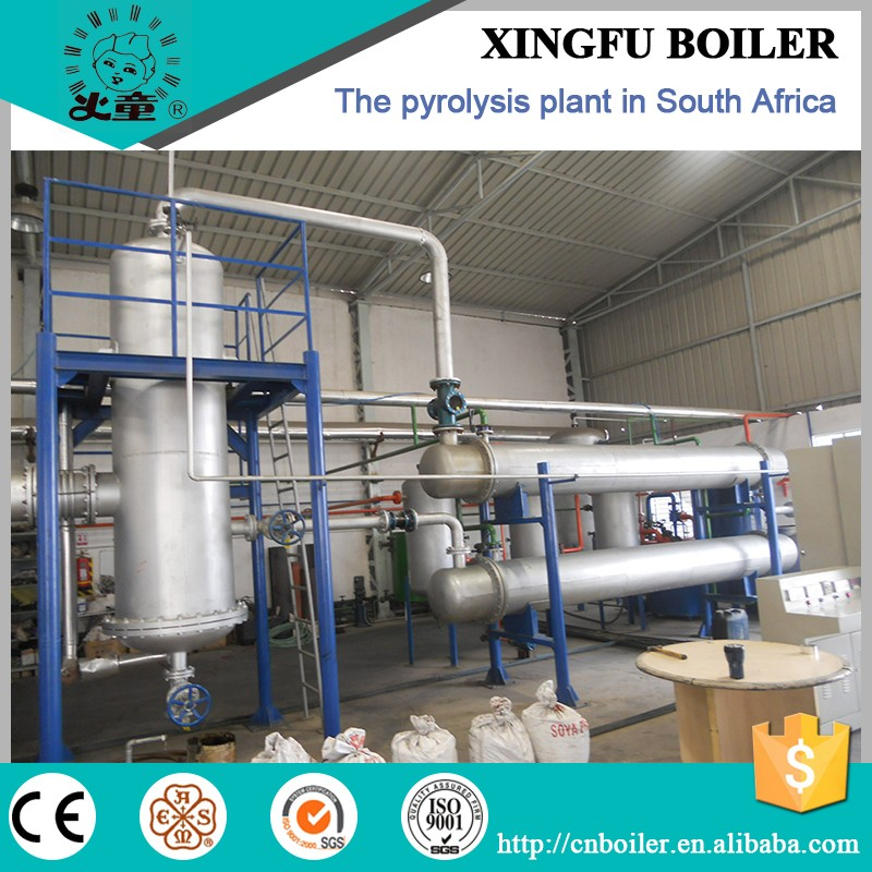 10 ton tyre recycling pyrolysis plant from QINGDAO XINGFU