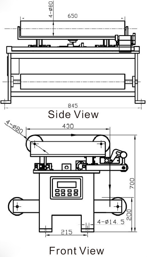 Web Guide Control System Steering Frame PG series