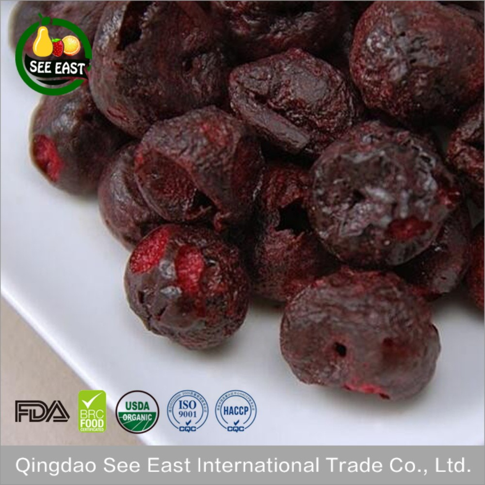 Low fat fruits from Chile freeze dried cherries for healthy foods