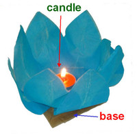 Hot Sale Lotus Flower Floating Water Paper Lanterns For Holiday Decors