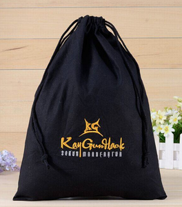 Direct Manufacturer black cotton muslin jewelry gift packaging storage pouch custom cotton drawstring bag