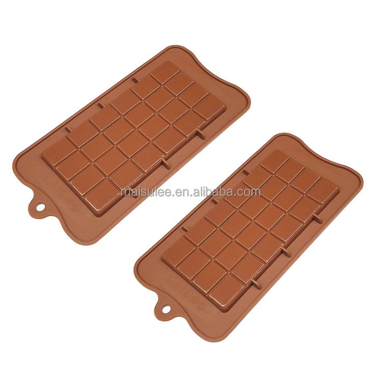 Silicone Break-Apart Chocolate mold, Protein and Energy Bar Soap Molds