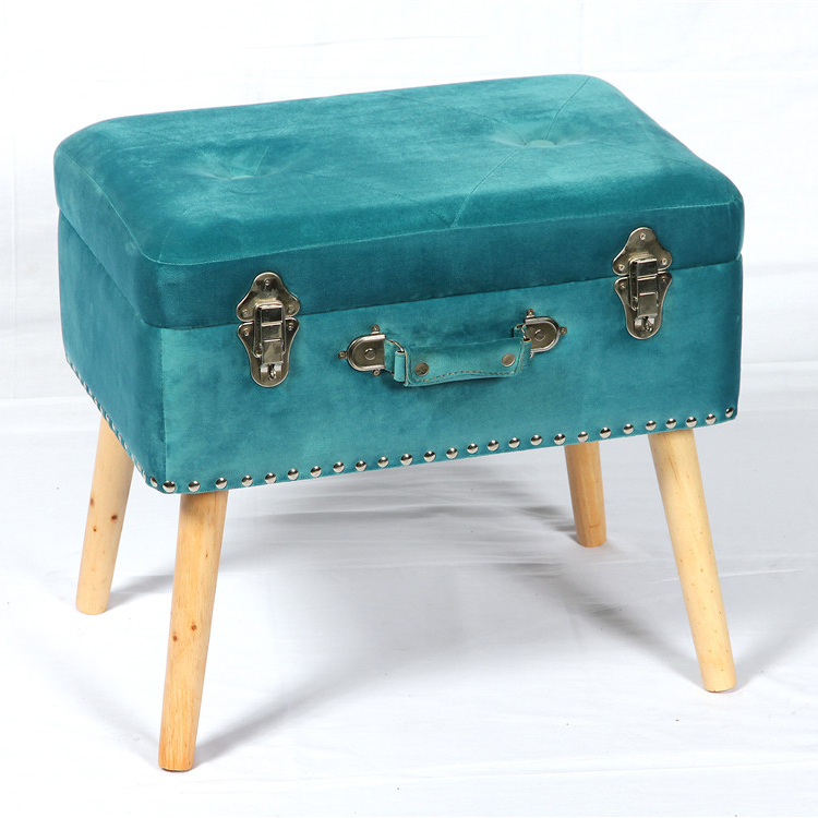 Muebles De Sala Colorido Otomana Heces De Almacenamiento Con Patas ...