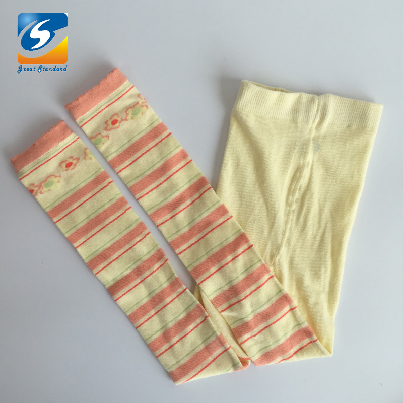 fashion spot red and white  cotton girl knitted wholesale baby tights