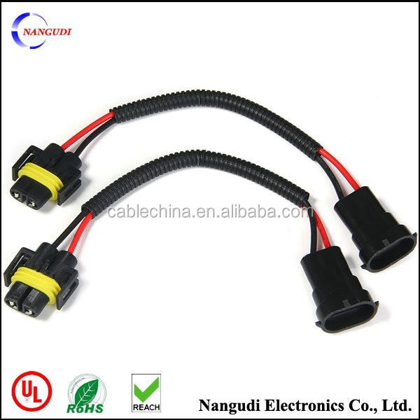 H8 H9 H11 Car Headlight Extension Connector Wiring Harness Socket Wire auto wire harness