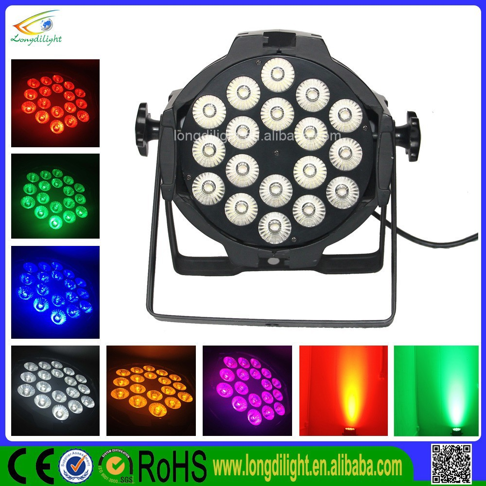 China LED Par 64 3W Black 18 x 3W RGB Tri Pro LED Par Can 64