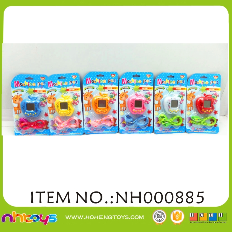electronic toy plastic pet game machine toy educational tamagotchi toys with battery for kids
