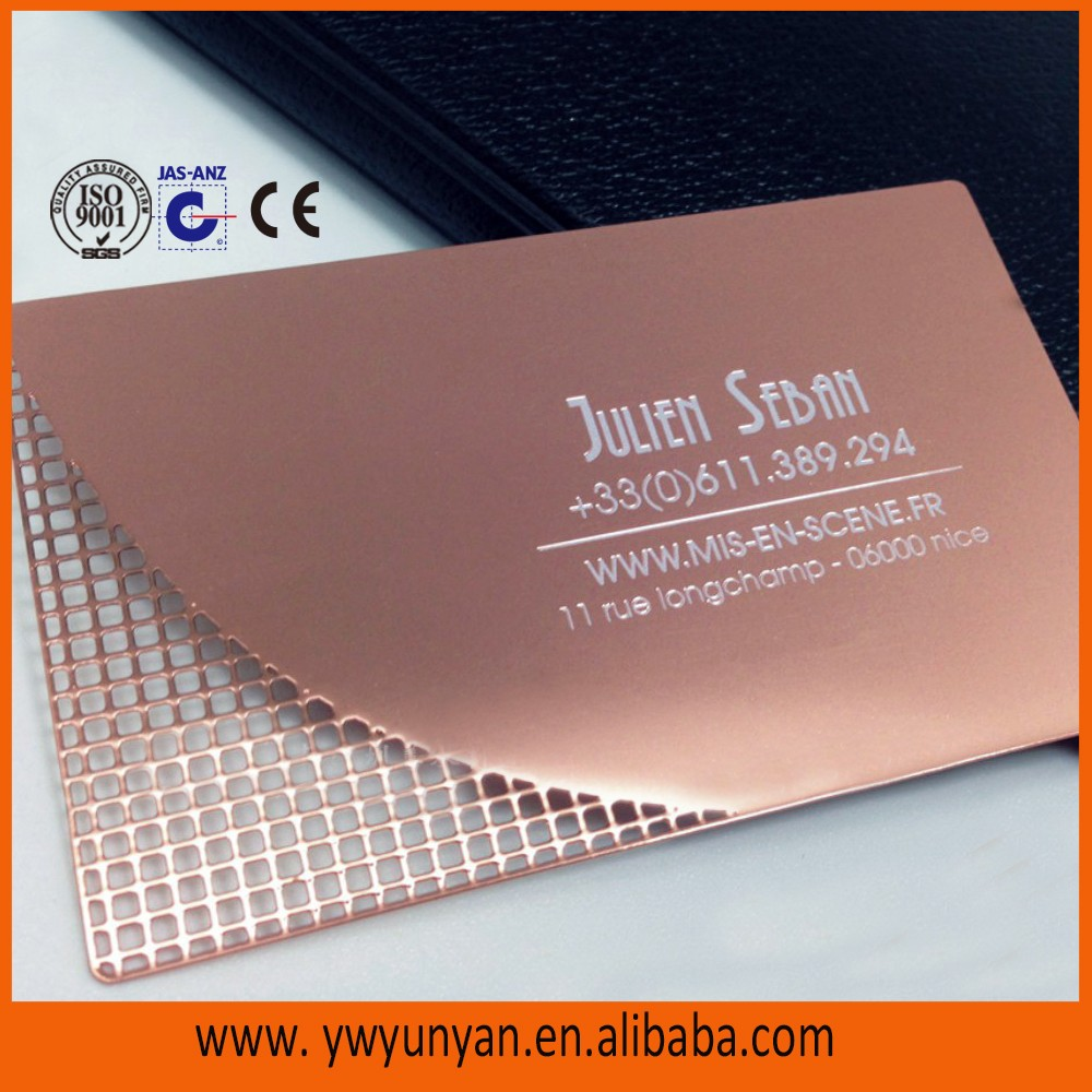 Custom rose gold metal business cardmetal membership cardetched custom rose gold metal business cardmetal membership cardetched metal card with customized magicingreecefo Images