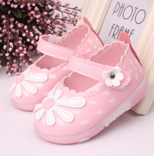 Baby Girl Shoes Floral Printed Fabrics Princess Breathable Soft Bottom