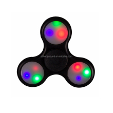 2017 Cheapest LED lights hand spinner toys Plastic Colorful spinner hand