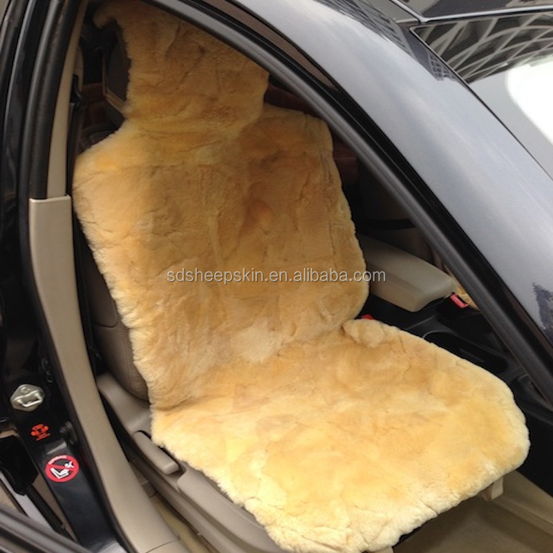 Grey DUMI Patch Work Real Sheepskin Car Seat Covers JINAN CARSTAUTO ACCESSORIES CO LIMITED.