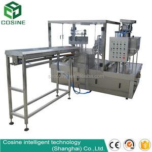 Air tight sealing filling machine for thick liquid, stand-up pouch packaging machine