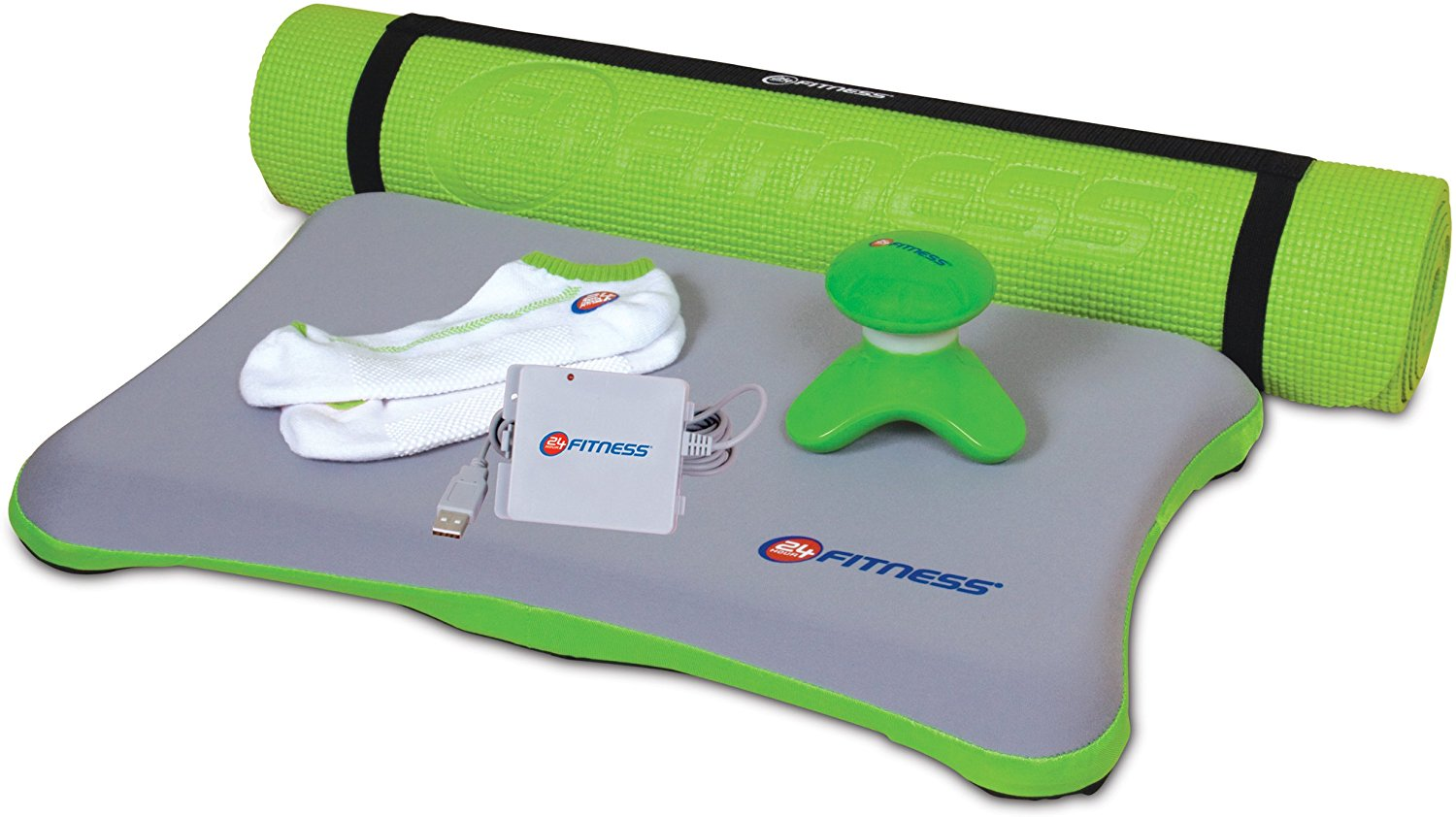 dreamGEAR Nintendo Wii 6-in-1 24 Hour Fitness Bundle (green)