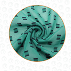 New design 100% polyester cationic clipped chiffon fabric with soft hand feel for skirt or dress