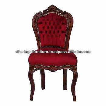 Red Velvet Baroque Chair