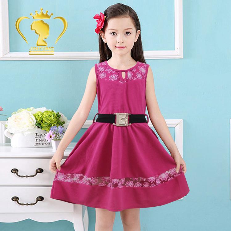 acc9543fc 10 años Niña moda niños vestidos de fiesta desgaste transparente vestido  para niñas