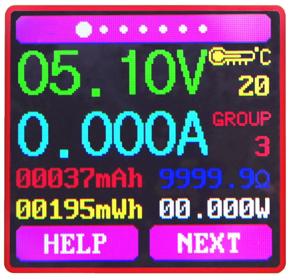 Rd Um24c Usb 2 0 Farbe Lcd Display Dc Voltmeter