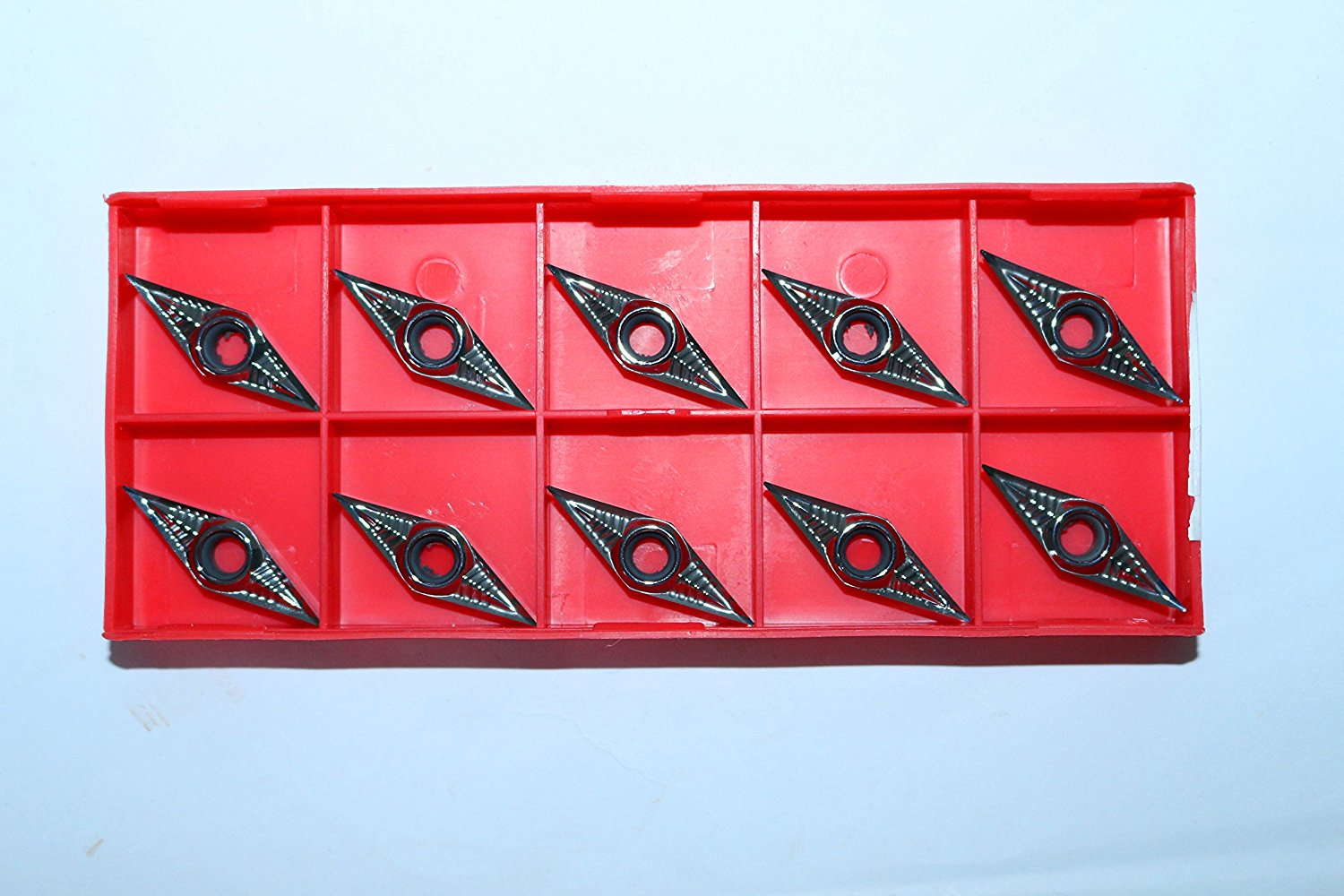 10pcs Carbide Inserts VCGT110304 for Cutting Aluminum /& Copper Indexable VCGT221