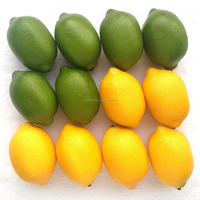 yellow & Green Artificial Lifelike Simulation Lemon Fake Fruit Home Kitchen Cabinet Decoration