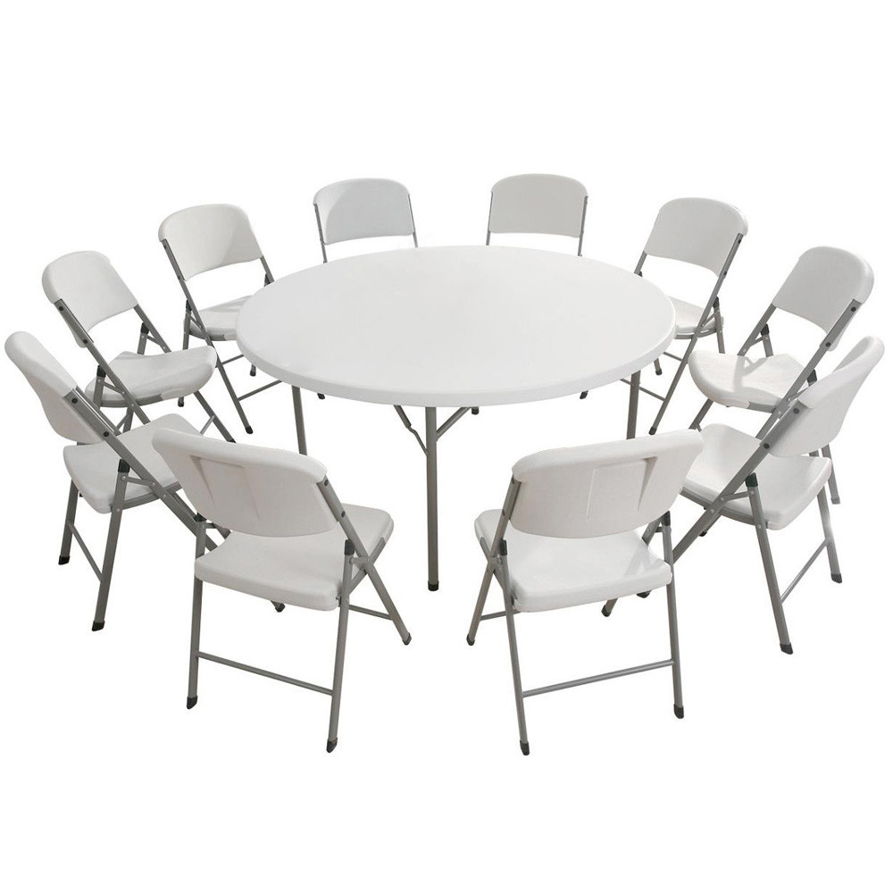Cheap plastic round table factory with high quality