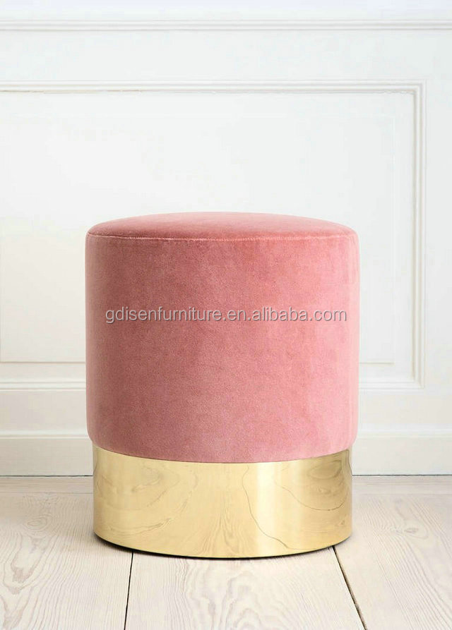 Azucena Stool Living Room Kids Furniture Round Fabric Ottoman Foot ...