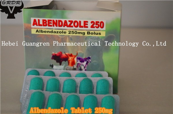 2016 Hot Sale Albendazole Tablet 250mg 500mg for Veterinary Use Only