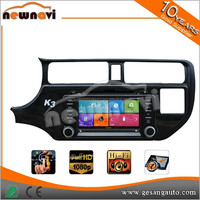 High quality 8 inch Car navigation and entertainment system for K3 / RIO 2012- with Radio,GPS,Bluetooth,3D UI