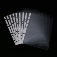 China suppliers a4 11 clear plastic transparent hole sheet protector