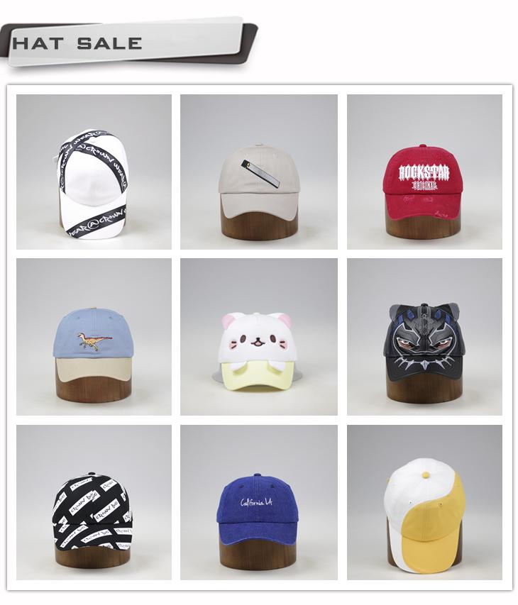 Di Alta Qualità su ordinazione 6 Pannelli 2D Berretto Da Baseball del ricamo, ricamo protezione di golf, ricamato cappello da baseball