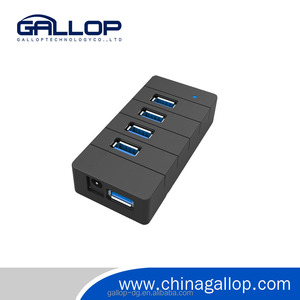 Plastic high speed USB3.0 hub with 4 ports usb hub duplicator