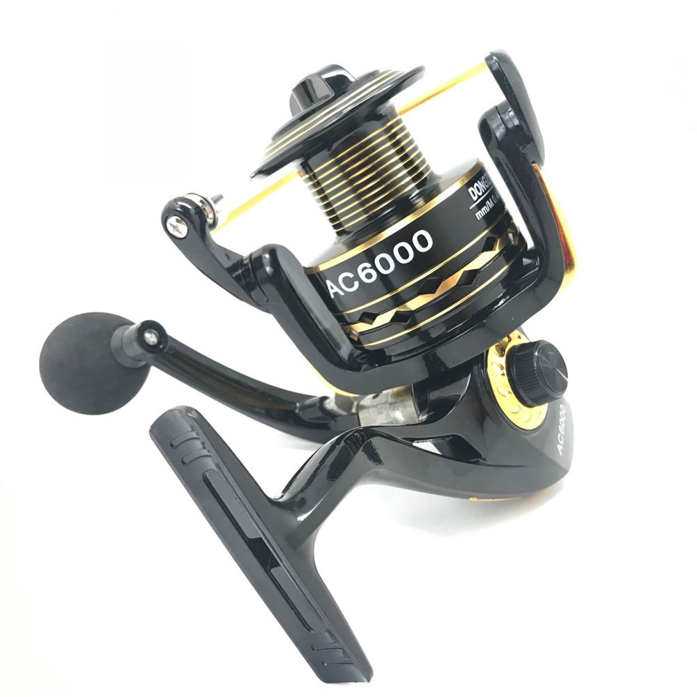 Cheap 5.5:1 High Speed Metal Aluminum Spool Saltwater Surf Boat Spinning Fishing Reel, Red