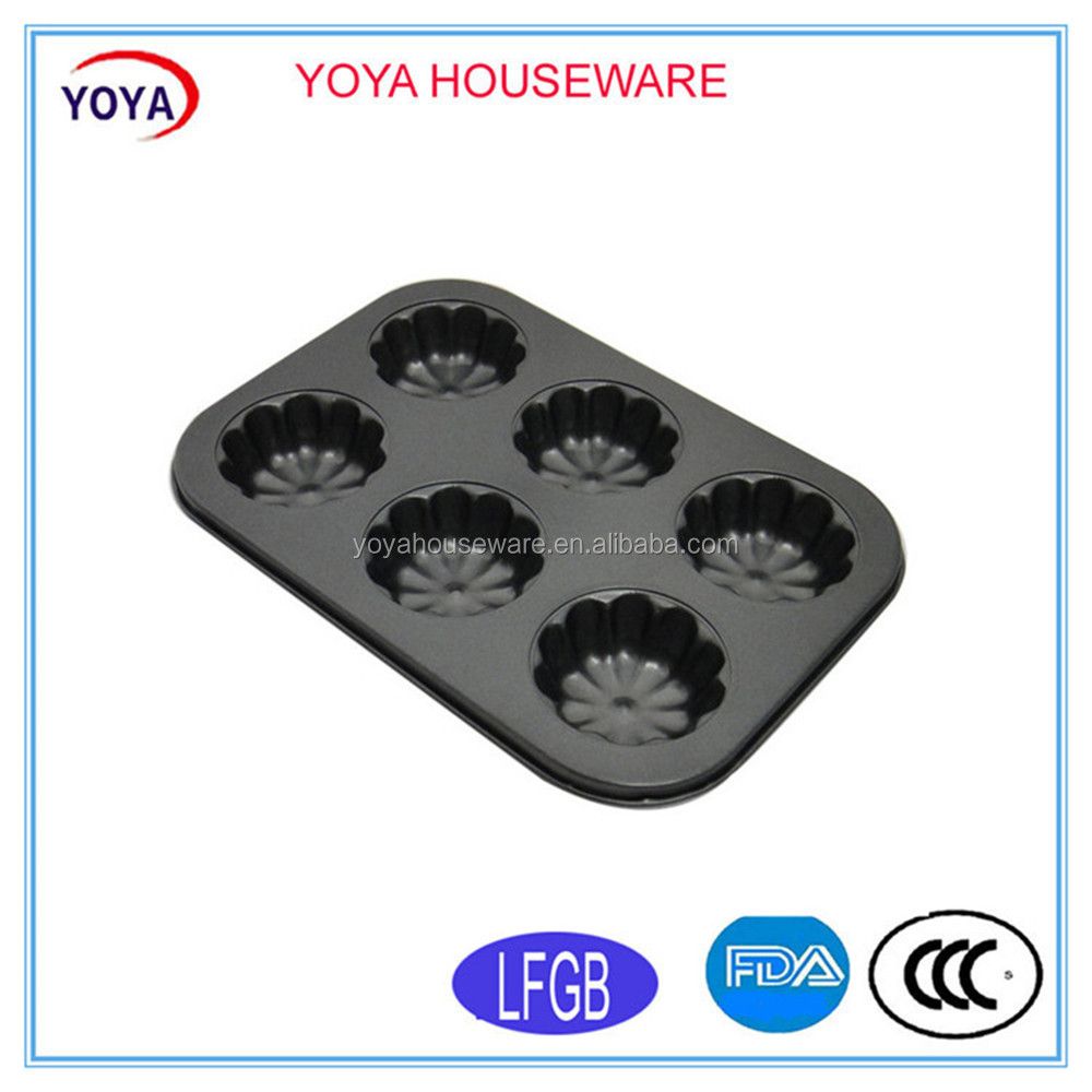 2016 new products modern kitchen bakeware 6 baking muffin pans