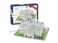 64PCS The White House 3D Puzzle
