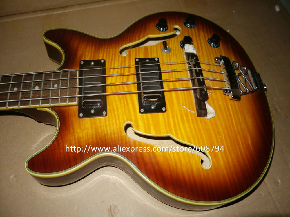 popular hollow body bass guitars buy cheap hollow body bass guitars lots from china hollow body. Black Bedroom Furniture Sets. Home Design Ideas