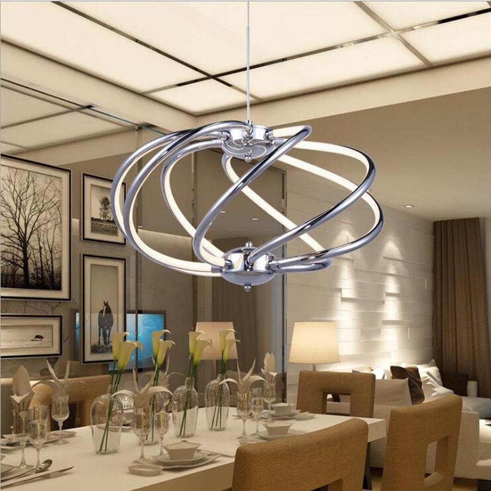 Wei-d Creative Modern Simple Led Living Room Chandelier Acrylic Lighting Chandeliers , as picture
