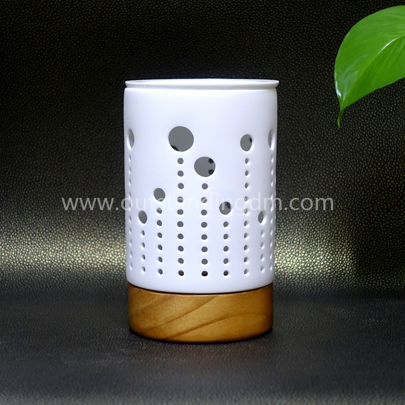 Wholesale White Ceramic Electrical Oil Burner With Lamp