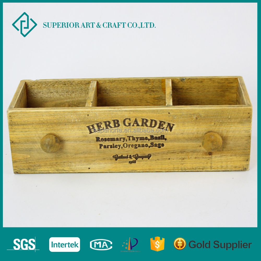 Trade assurance natural handmade home garden plant decoration storage wooden pots