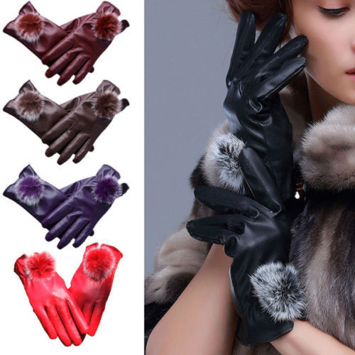 New Fashion Ladies Womens Soft Real Leather Gloves Lined Winter Driving Gift