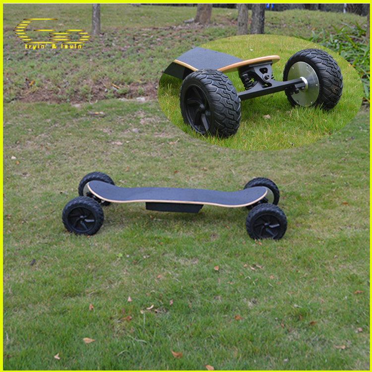 Free shipping four wheel electric skateboard offroad