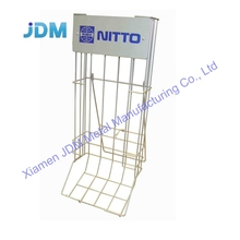 Aangepaste metalen auto down opknoping rack metalen display voor badminton bal <span class=keywords><strong>racket</strong></span>
