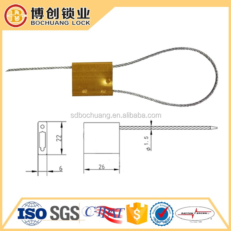 Security cable sea BC-C206 aluminum cable steel seal