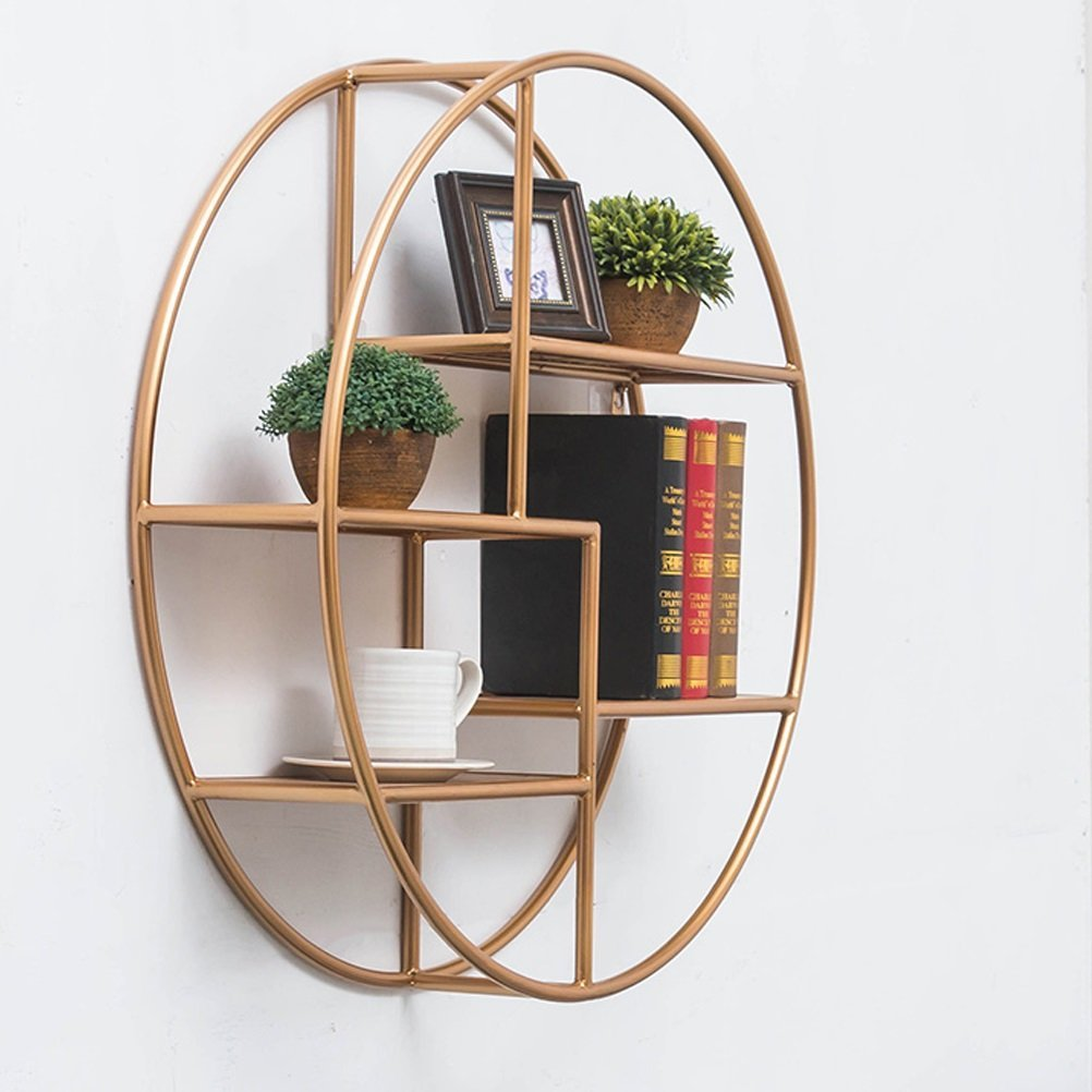 LQQGXL Storage and organization Round shelf wall frame Nordic style decorative frame (70X70CM)