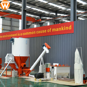 Strongwin feed manufacturing machinery 500kg/h poultry animal feed pellet production line plant